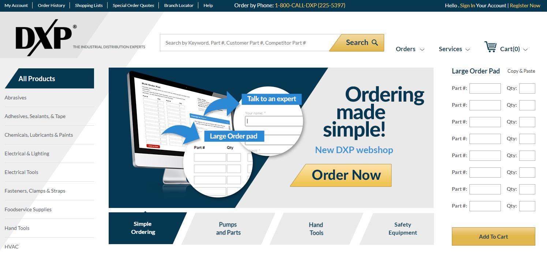 B2B Web Solutions - DXP Enterprises
